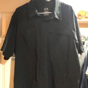 Black Oakley casual button down shirt